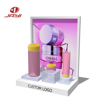 Custom Made POP Acrylic Make up Display Stand/Cosmetic Makeup Counter Display