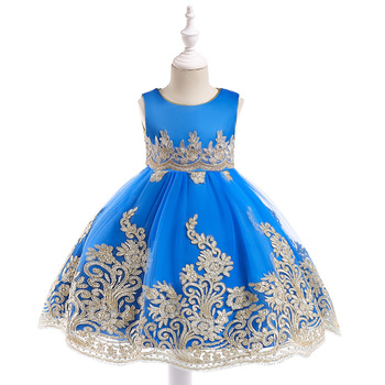 2018 New Design Girls Fall Boutique Clothing Lace Kids Party Wear Flower Girl Autumn Dresses L9029
