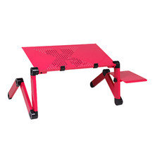 Подставка для ноутбука 360 rolling mesa suporte para для кровати складной столик для ноутбука для кровати с большим охлаждающим вентилятором и коврик дл...(China)