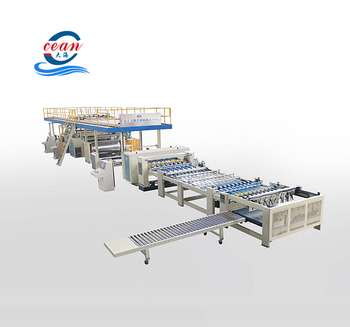 Dongguang ocean brand Professinal carton designed 3layer 5ply cheese corrugated cardboard production line