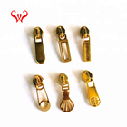 Charms Personalized Zipper Pulls New Design Novelty Light Gold Custom Made Personalized Zipper Pulls Metal Zipper Runner Slider Replacement Parts Charms