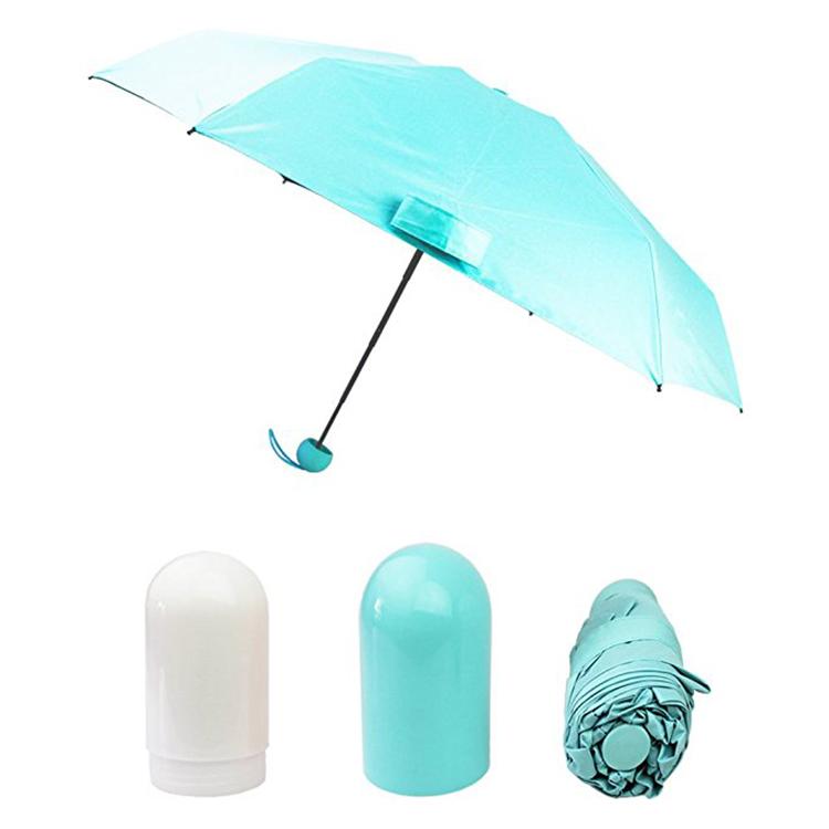 Лидер продаж на Amazon, капсульный зонт, складной женский зонтик от солнца, мини-зонтик