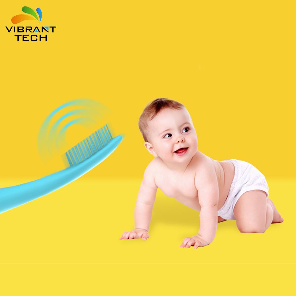 Батарея работает вибрации FDA Силиконовая зубная щетка для детей/детей