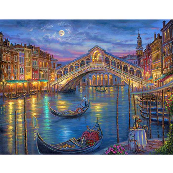 Venice City painting landscape 3d wall scenery for wall hanging
