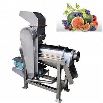 stainless steel fruit/vegetable crusher and juicer/cactus,tomato spiral juicer/fruit juice extractor machine