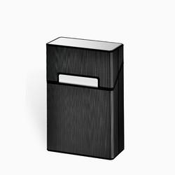 Модный тонкий металлический портсигар многоразового использования, портативный портсигар для мужчин