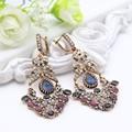 2016 Fashion Turkish Earrings Antique Gold Plating Swinging Pendant Earrings Princess Hook Luxury Women Jewelry Festival