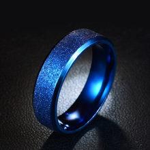 Индивидуальное матовое кольцо из титановой стали для женщин, простое женское обручальное кольцо черного/синего/золотого цвета, размеры 5, 6, ...(Китай)