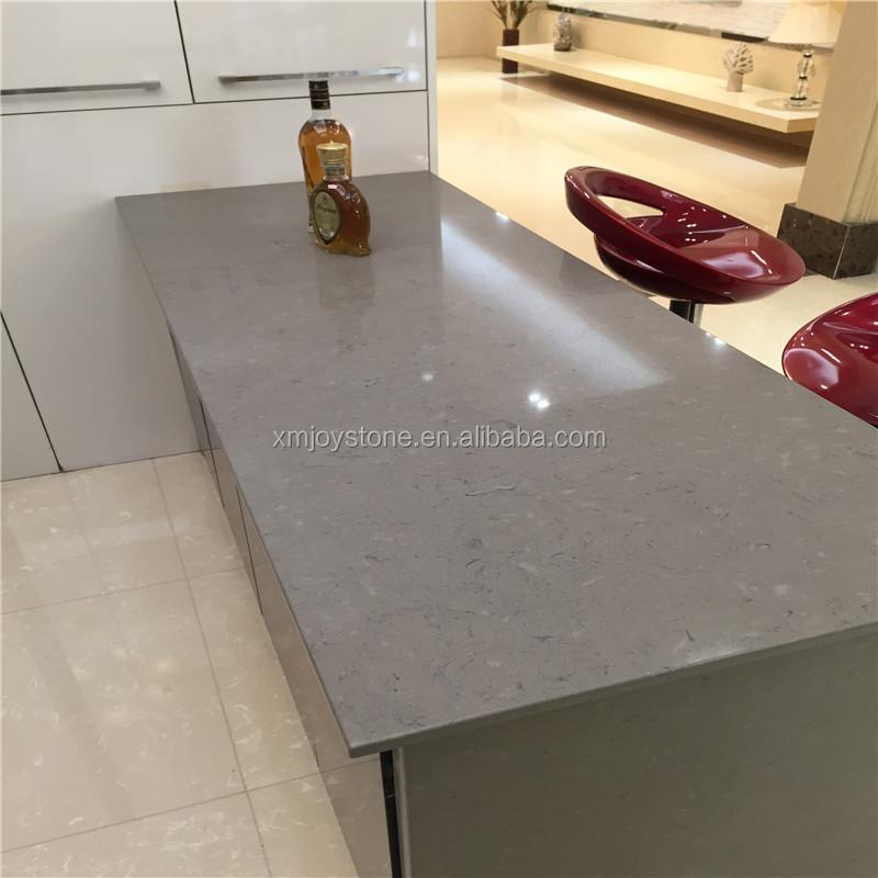 Artificial Stone Ice Grey Engineered Stone Quartz Stone Big Slabs