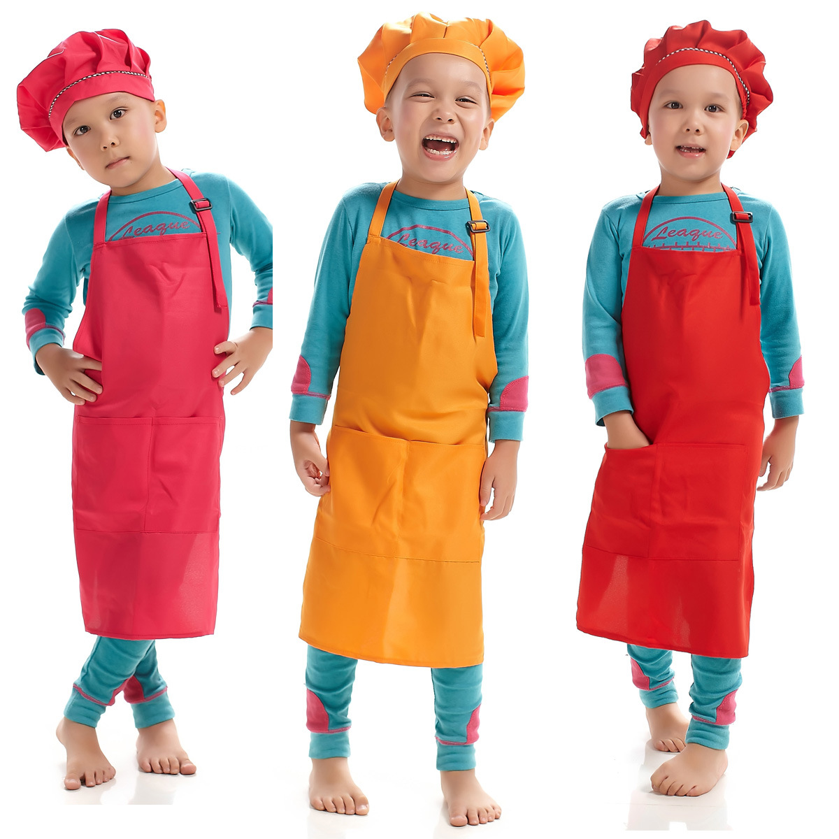 54*50cm Colorful Kids Kitchen Apron Cooking Cleaning Painting Drawing Art  Bib Chef Apron Drop Shipping Bistro Aprons Leather Aprons From Hongheyu, ...