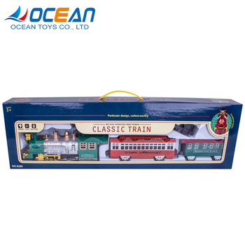 Non-toxic railway set battery operated plastic toy train OC0237884