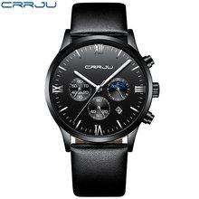 Relojes 2020 часы Для мужчин CRRJU модные спортивные кварцевые часы Для мужчин s часы лучший бренд класса люкс Бизнес Водонепроницаемый часы horloges ...(Китай)