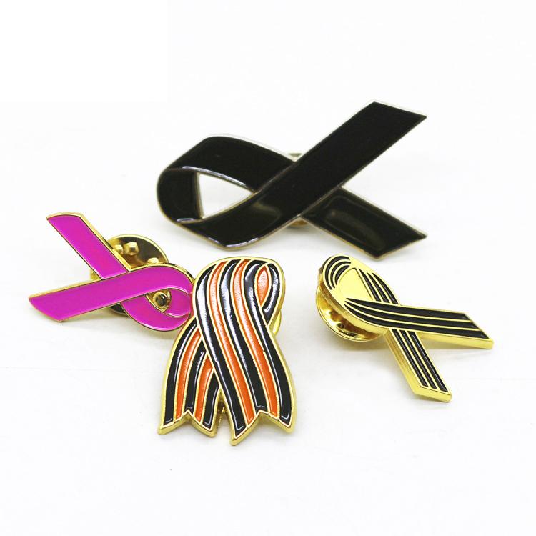 Black Awareness Ribbon Lapel Pin black ribbon memorial funeral muslim the saint lapel pin