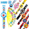 23cm Multi Style Cartoon Projection 3D 20 Projection Pikachu Doraemon Toy Electronic Watch 24 Images Avengers