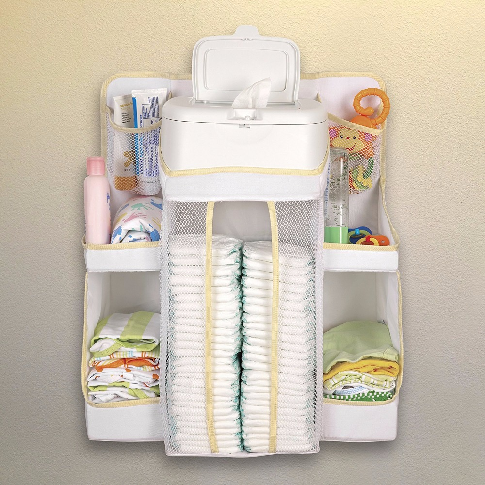 Hanging Baby Diaper Nursery Organizer Caddy for Change Table