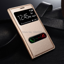 PU Leather Cover View Window luxury for Samsung Galaxy S3 SIII i9300 Mobile Phone Cases battery housing Cover