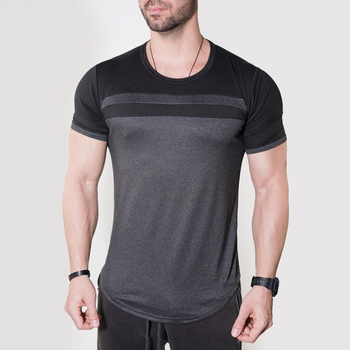 custom mens activewear quick dry running t shirt