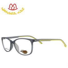 Детские модные очки Wayward TR90 с оптической оправой, резиновые дужки, прозрачные линзы, разноцветные очки для K9003(Китай)