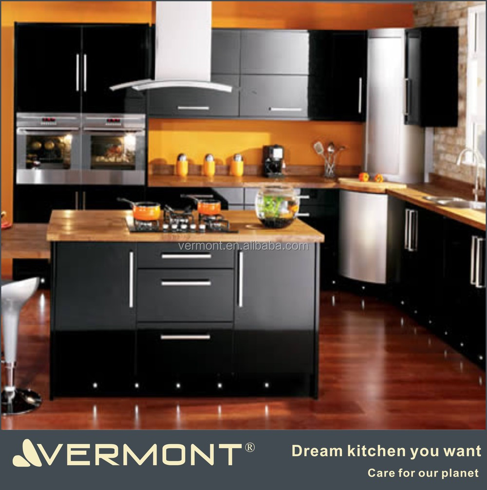 2017 Luxury High Gloss Black Kitchen Cabinet Buy Modern Kitchen Cabinets High Gloss Kitchen Cabinet Movable Kitchen Cabinets Product On Alibaba Com