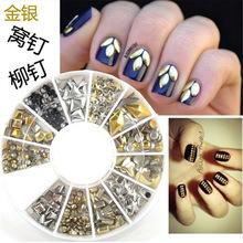 Silver And Gold 3d Nail Art Bijoux ongles strass ongles decoracion de unas nail glitter decorazioni