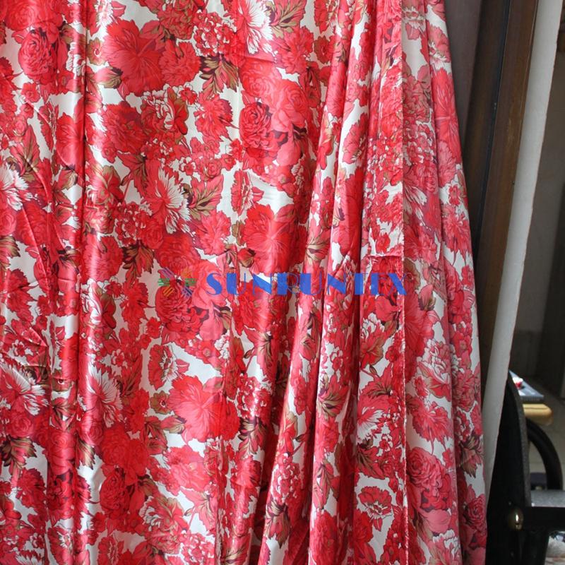 high quality fashion printed silk fabric