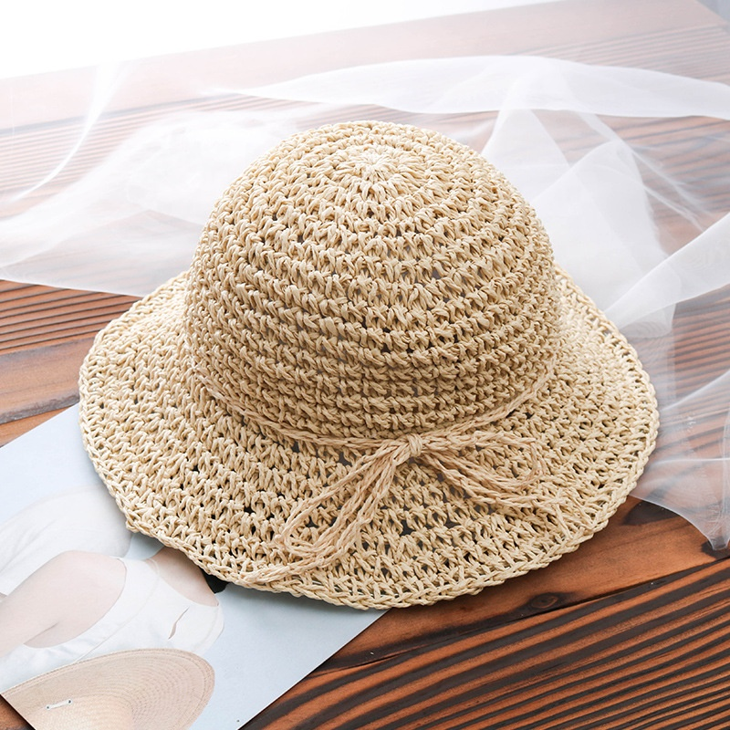 Adult and Child Beach Travelling Summer Paper Straw Sun Hat
