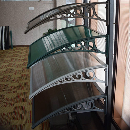Plastic Bracket Metal Aluminium Canopies Polycarbonate Door Canopy Awning For Balcony Aluminium Awning