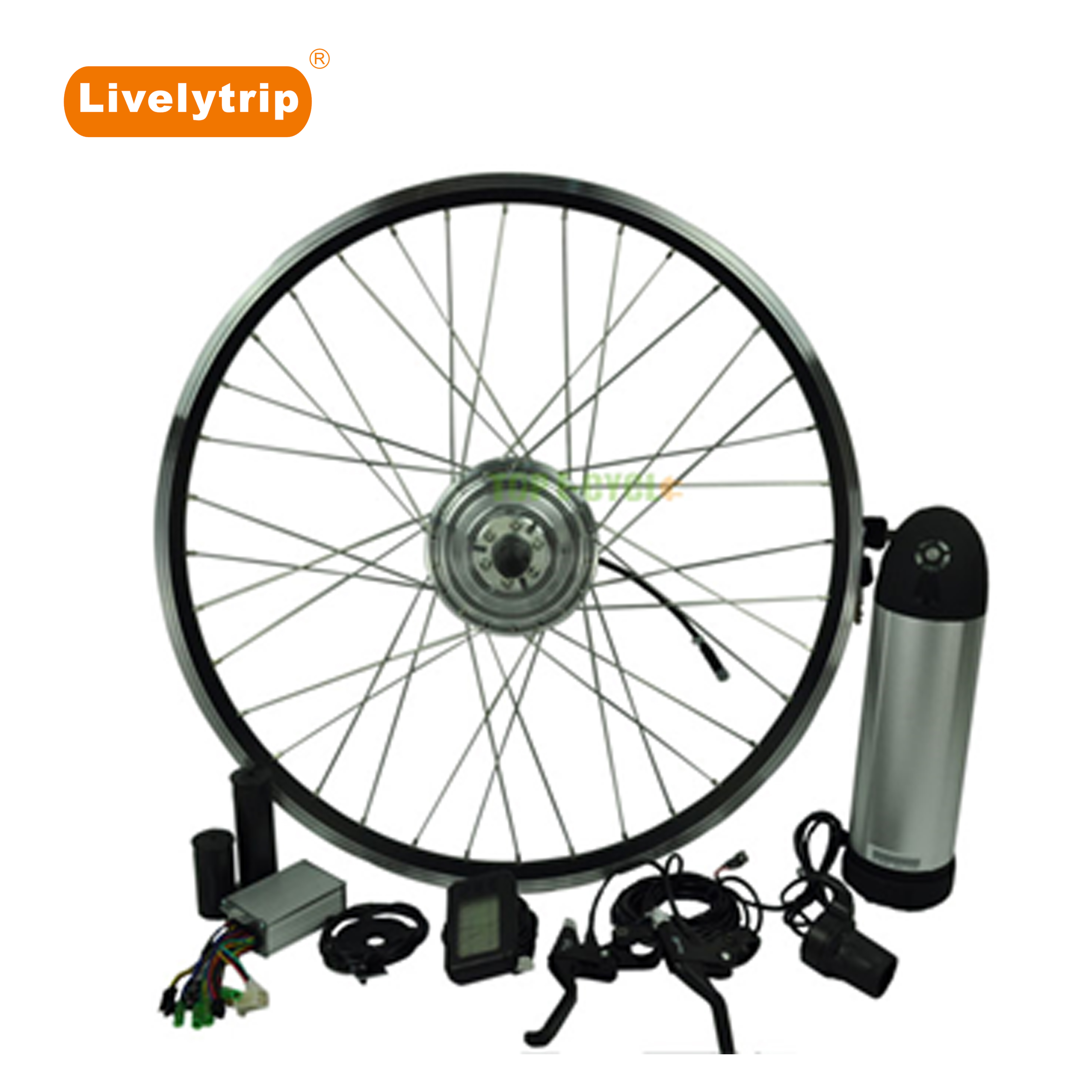 DIY 16 20 28 inch Front/Rear Wheel Hub Motor Electric Bike Conversion Kit with Battery