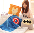 Plush blanket 1pc 150cm soft movie Iron man Captain America thor superman batman rest office cushion
