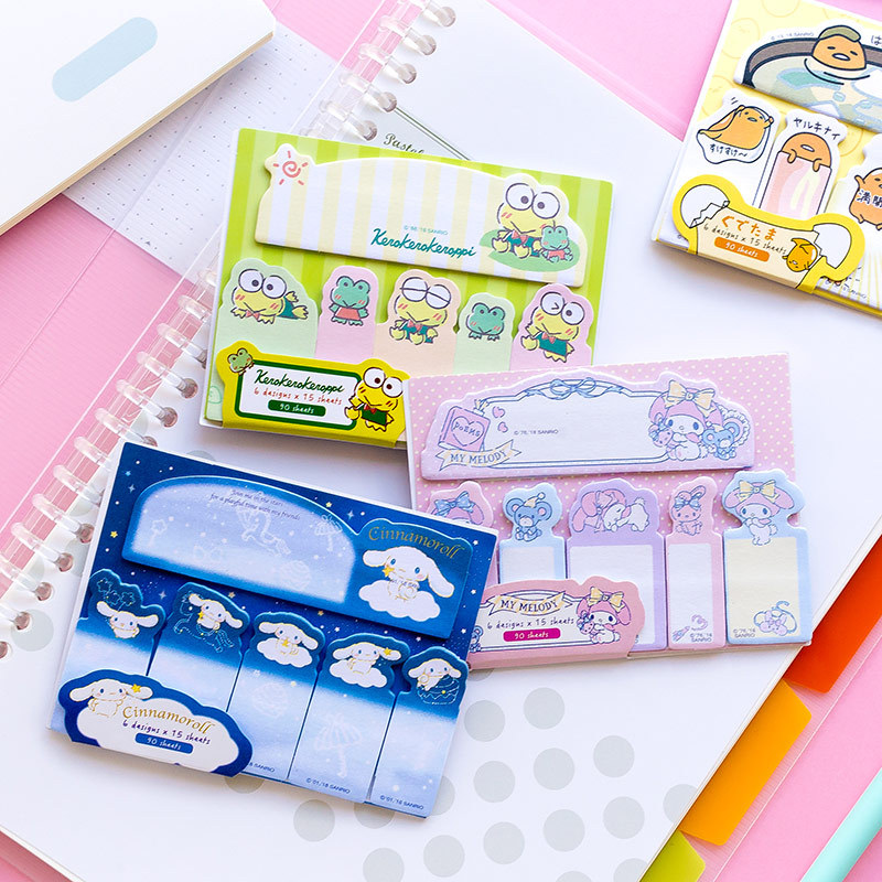 novelty sticky notes Cute Frog Dog Gudetama Melody Kuromi Twin Stars Sticky Notes Memo Pads School Office Supply Stationery