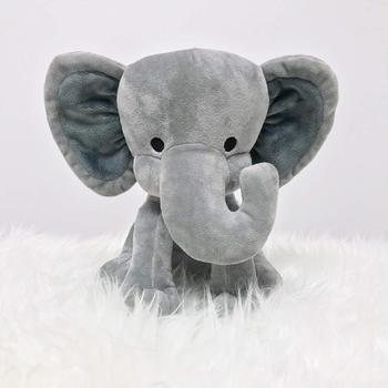 9 Inches Great for Nursery Room Bed Decorative Grey Stuffed Elephant Animal Plush Toy