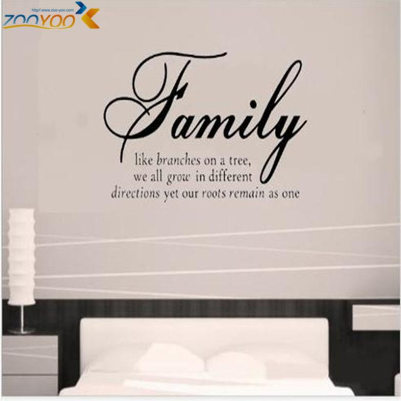 Family like branches creative home decor decorative wall stickers citation adesivo removable vinyl wall stickers parede