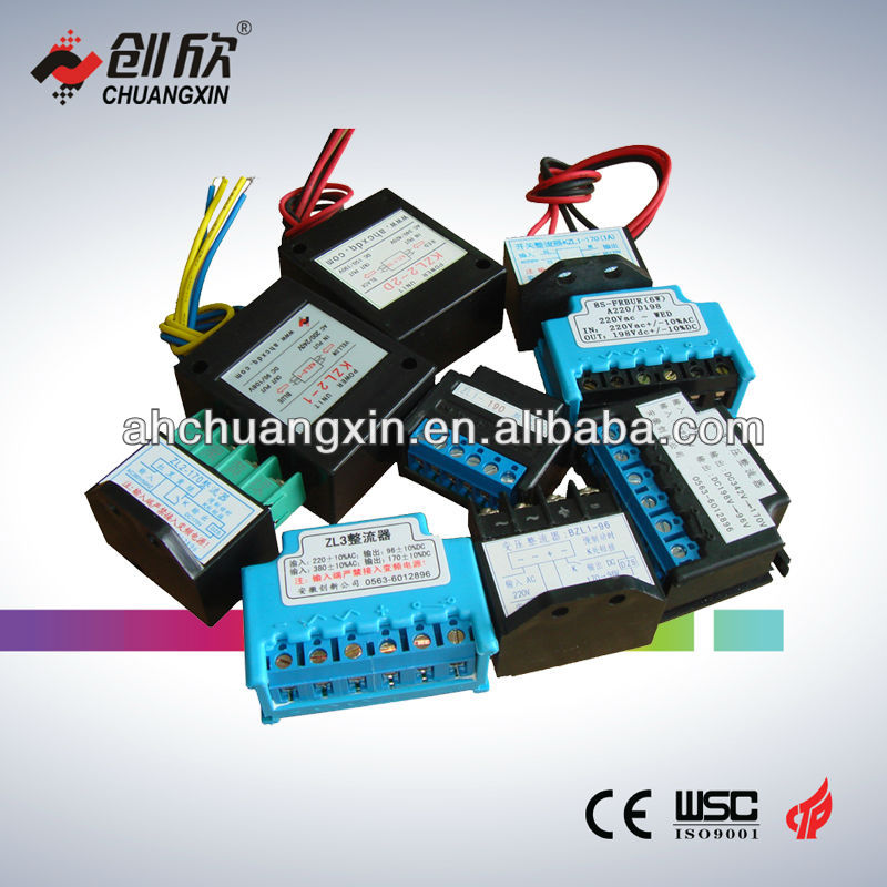 matching transform alternating current for electromagnetic brakes work rectifier