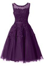 It's YiiYa платье для выпускного вечера с вышивкой бисером, иллюзия, короткие свадебные торжественные платья с аппликацией цветов, Вечерние Пла...(Китай)