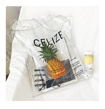 Luxury Transparent Pvc Shopping Bag Transparent biodegradable plastic shopping bag pvc bag