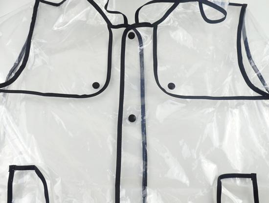 Женщины девочки прозрачный прозрачный пвх винил трубопроводы плащ пончо взлетно-посадочной полосы стиль дождь пальто