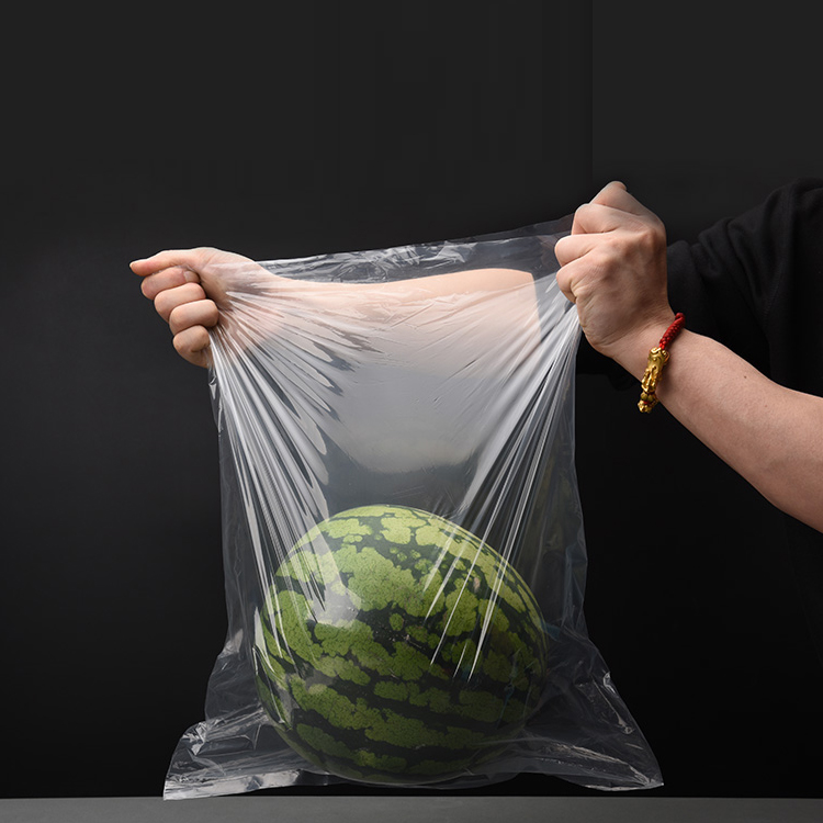 Custom Printed Clear Flat PE Plastic Poly Bag For Food Packaging