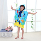 Towel Children Hooded Towels Kids High Quality Microfiber Kids Cartoon Print Beach Towel Poncho Children Beach Poncho Kids Hooded Beach Poncho Towel