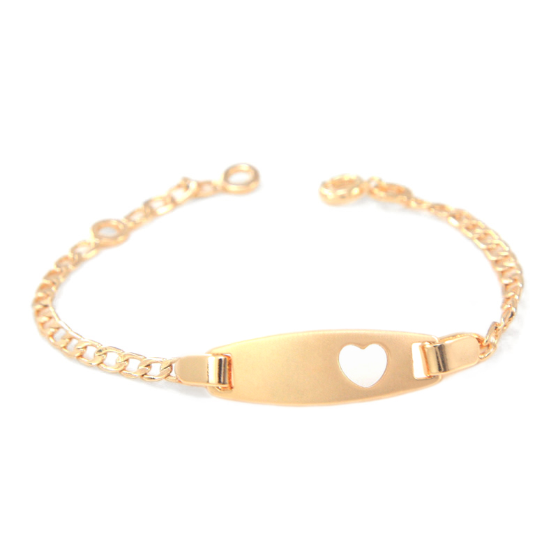 3afcb22e9fe2 Detail Feedback Questions about 17cm Heart Baby Bracelets Gold Chain ...
