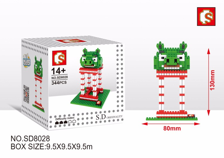 26 styles Building Blocks The Flying Red Birds Mini Model Action Figure  Diamond Brick New Year Gift with original box