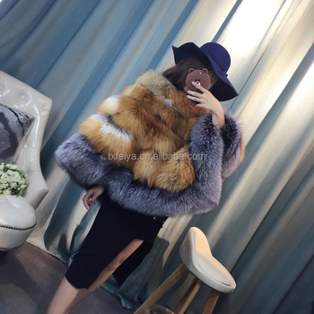 New arrival red fox and silver fox fur mantle European style fashion poncho warm popular wholesale ladies fur cloak