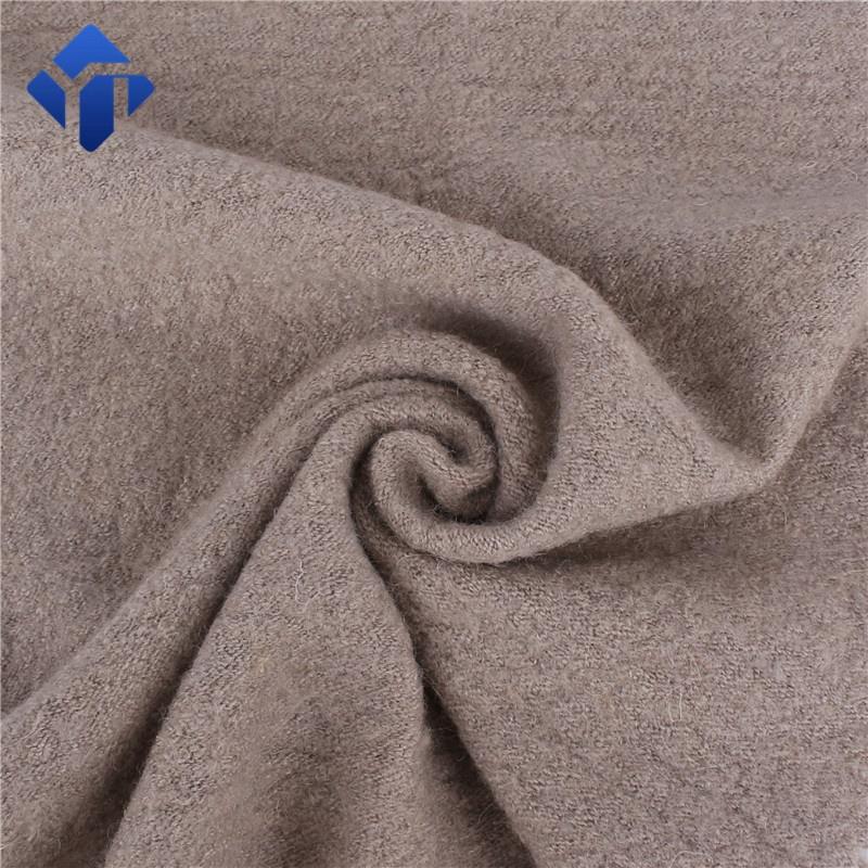 Мельница вареная шерсть пальто трикотажная смешанная ткань для зимнего пальто