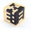 Funny Educational Wood Puzzles For Adults and children s Toys Brain Teaser Black and white 3D