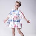 Lolita Style Girls Dress High Quality Children Clothing Spring Autumn Print Kids Dresses For Girls Fashion