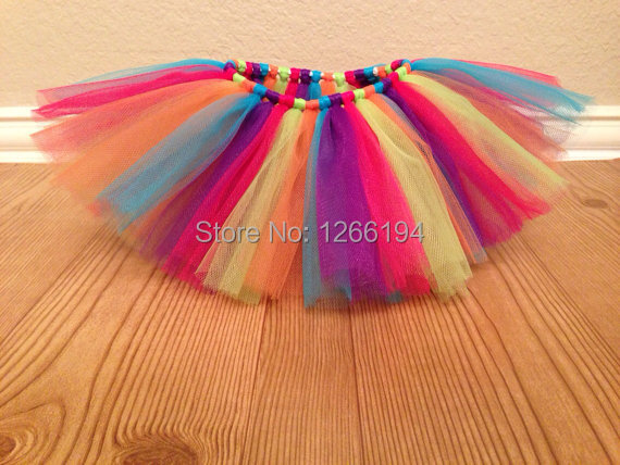 545a38c7f1 Colorful Handmade Sweet Girl Summer Tulle Toddler Tutu Skirts Rainbow Tutu  Kids Skirts Fluffy 7T 8T 9T Free Shipping. 1. Tulle Fabric Color Chart