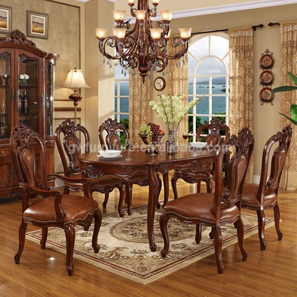 Antique Wooden Inlay Dining Room Furniture Buy Antique Wooden Inlay Dining Room Furniture French Style Dining Room Set Classic Luxury Wooden Dining Room Set Product On Alibaba Com