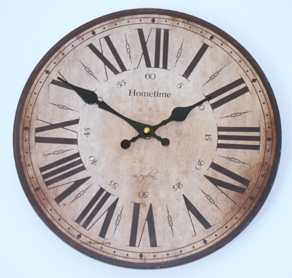 Wooden Chic Shabby Distressed Style Stand Clock Buy