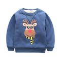 2017 Winter New Child Fleece Hoodies Sweatershirt Boys Cartoon Christmas deer Tops Kids O neck Pullover