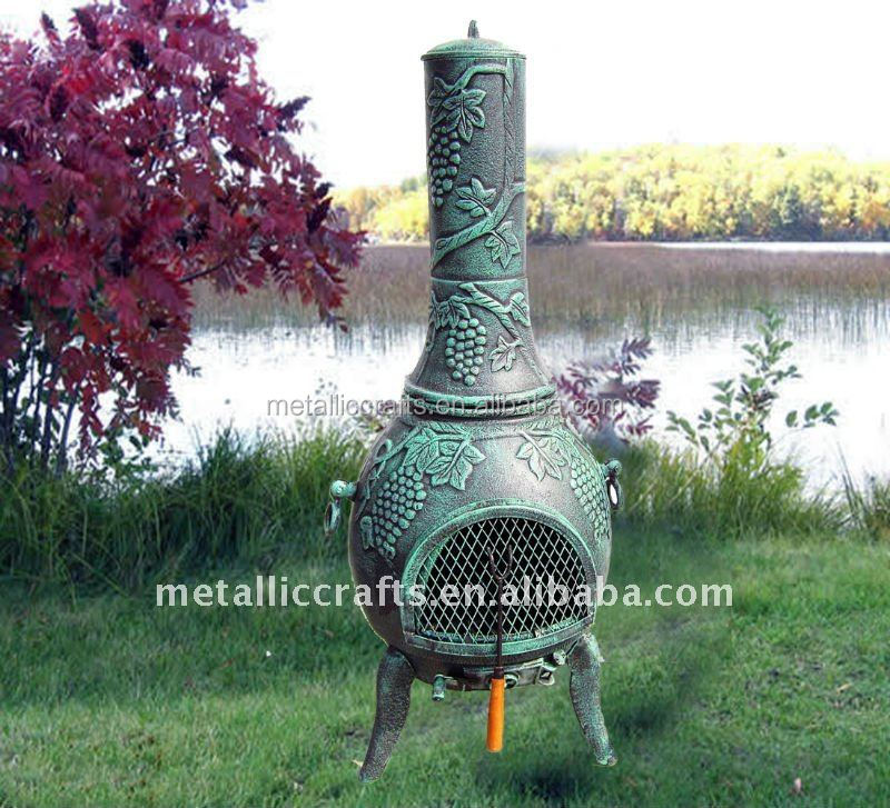 Cast Iron Cast Aluminum 2015 Hot Sale New Design Grape Chiminea Outdoor Fireplace Buy Chiminea Cast Iron Chiminea Cast Aluminium Chiminea Product On Alibaba Com