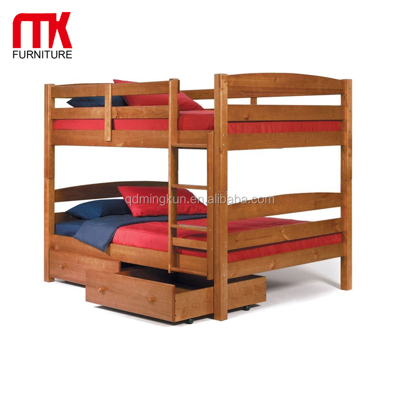 Wooden Kids Double Bunk Bed